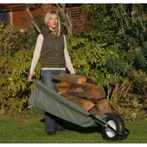 Allsop Home and Garden WheelEasy Folding Yard Cart / Ground Load Wheelbarrow,  Lightweight with 350 lbs Capacity, Ultra-Thick Vinyl-Coated Nylon, Large 12.5'' Pneumatic Tire by Allsop Home and Garden (Image #5)