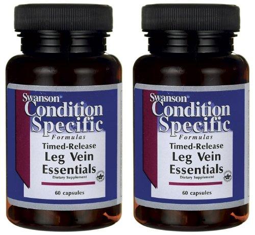Swanson jambe veine Essentials - 2 bouteilles chacune de 60 Capsules