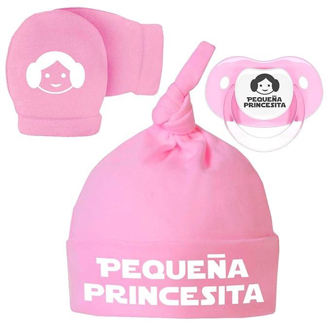 ClickInk Pack Gorro, Manoplas y Chupete recién Nacido. Pequeña ...