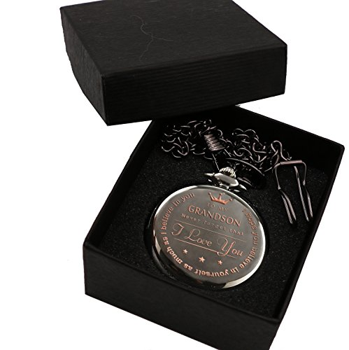 Mainbead Engraved Pocket watch,to grandson Gifts From a Grandpa, GrandMa by Mainbead (Image #3)