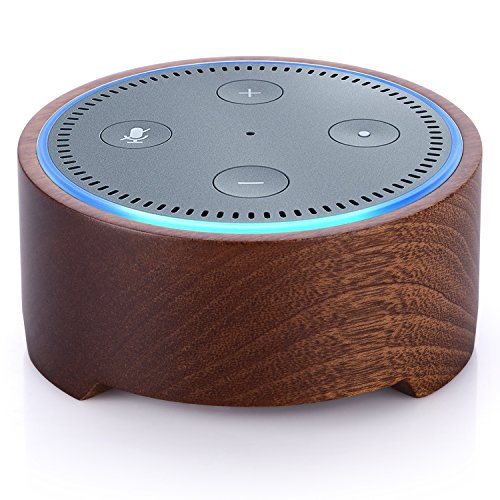 Natural Solid Wood Stand Holder for Alexa, Piqiu Simple Amazon Echo Dot Case for Echo Dot 2nd Generation, Jam Classic Speaker base -Nice Decoration for Kitchens and Living Room (Dot Wood)