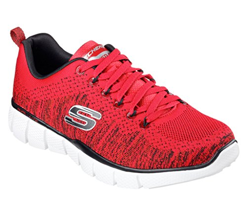 Skechers Mens Equalizer 2.0 - Perfect Game Sneaker Red/Black Size 10 (Mens Red Sneakers)