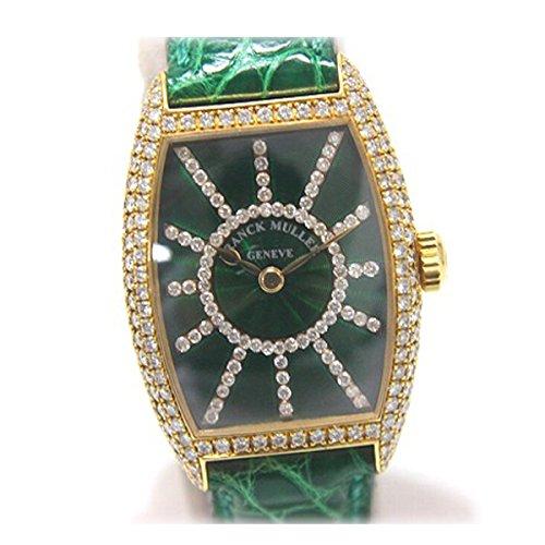 FRANCK MULLER(フランクミュラー) トノウカーベックス ベゼル文字盤ダイヤ レディース腕時計 K18 クロコ革ベルト 手巻き 1750S6PMCD [中古] B01D2NK7WW