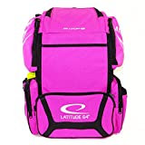 Latitude 64 DG Luxury E3 Pink and Black Backpack Disc Golf Bag