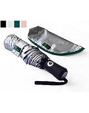 Umenice Paraguas de Viaje UPF 50 + protección UV Ultraligero, Verde