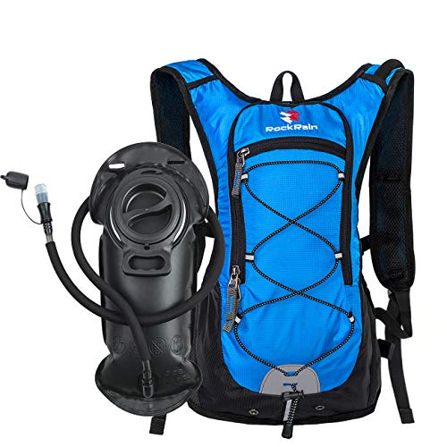 ROCKRAIN Windrunner Lightweight Hydration Pack with 2L BPA Free Water Bladder - Outdoor Sports Gear for Running, Cycling, Hiking, Biking, Camping