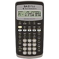 Texas Instruments BA-II Plus - Calculadora (Bolsillo, Calculadora científica, 10 dígitos, Negro)