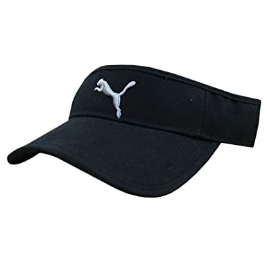 3bb01ccd Puma Sports Visor Hat Unisex (One Size Adult, Black/Grey): Amazon.co.uk:  Clothing