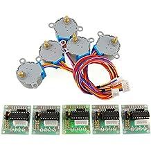 Zoefree 5 sets 28byj 48 ULN2003 5V Stepper Motor + ULN2003 Driver Board for Arduino