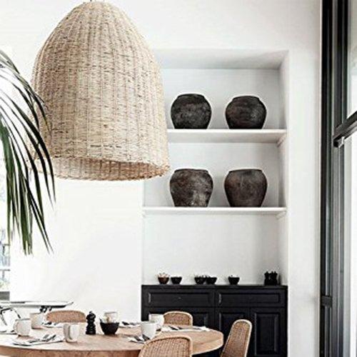 Arturesthome Woven Wicker Basket Lamp Handmade Ceiling Lighting