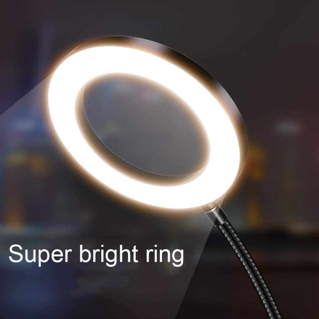 Mini Led Camera Ringlight for YouTube Video//Makeup 3 Phone Holder//Shelf HULYZLB Fill LightLED Ring Light with Stand