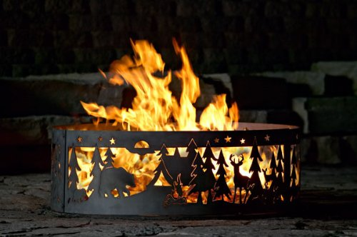 Campfire Fire Ring - Northwoods Campground (30 in. Dia. x 10 in. H)