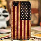 Vintage US American Flag Hard Plastic Case For iPhone 4/4S – Halloween Gift, Best Gadgets