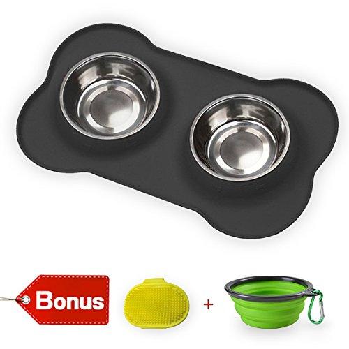 8 inch dog bowl set - 2