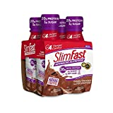 SlimFast Advanced Nutrition, Meal Replacement Shake, High Protein, Creamy Chocolate, 11 Ounce, 4 Count