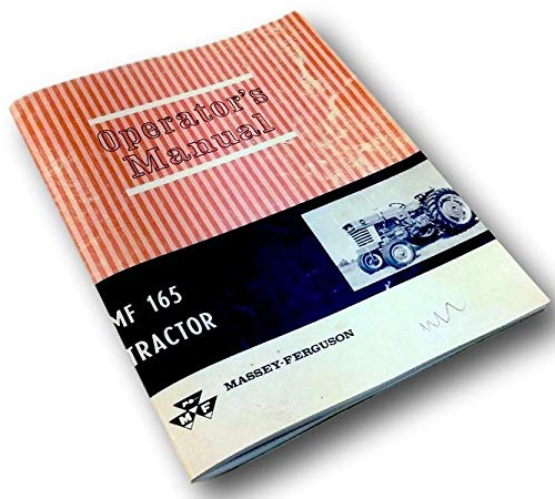 Massey Ferguson Mf 165 Tractor Operators Owners Manual Operation Maintenance