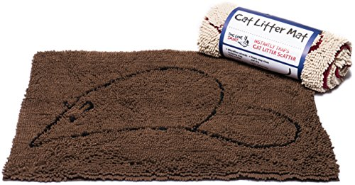 (Dog Gone Smart Cat Litter Mat, 35-In by 26-In, Brown)
