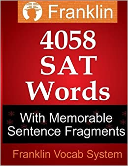 Book Franklin 4058 SAT Words With Memorable Sentence Fragments by Franklin Vocab System (2013-10-19)
