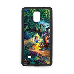 Personalized Fantastic Skin Durable Rubber Material Samsung Galaxy Note4 Case - Snow White hjbrhga1544