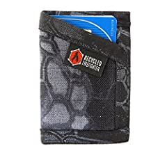 Made from two layers of MILITARY SPEC 1000D NYLON FABRIC.Slim, Durable, USA Made Credit Card Wallet That Is Sewn to Last and Super Comfortable as a Front Pocket Wallet. The Sergeant Wallet is designed to be carried comfortably in your front p...