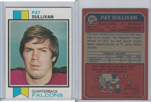 1973 Topps Football, 251 Pat Sullivan RC, Atlanta Falcons