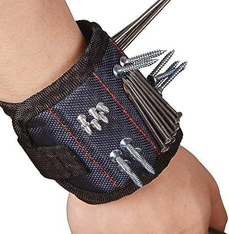 des ciseaux une ceinture /à outils pour bricoleur Bracelet magn/étique avec 6 aimants puissants tenant des vis des forets des clous