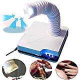 MISMXC Nail Art Salon Dust Extractor Fan Collector Vacuum Cleaner Manicure Machine With 3 LED Light for Polish Acrylic Nails