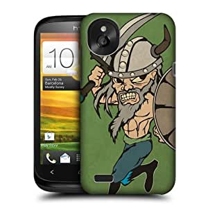 Head Case Designs Moldof Vikings Protective Snap-on Hard Back Case Cover for HTC Desire X by icecream design