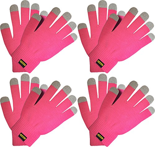 Stanley Ladies Go Touch String Knit Glove with Touchscreen-Capable Fingertips (4 -