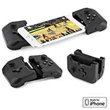 Gamevice Controller Gamepad - Apple iPhone Game Controller (Apple MFi Certified) for iPhone X Gaming Controller, iPhone X, 8 Plus, iPhone 7 Plus, 8, 7, 6, 6s [DJI Spark Drone Flight Control] (New)