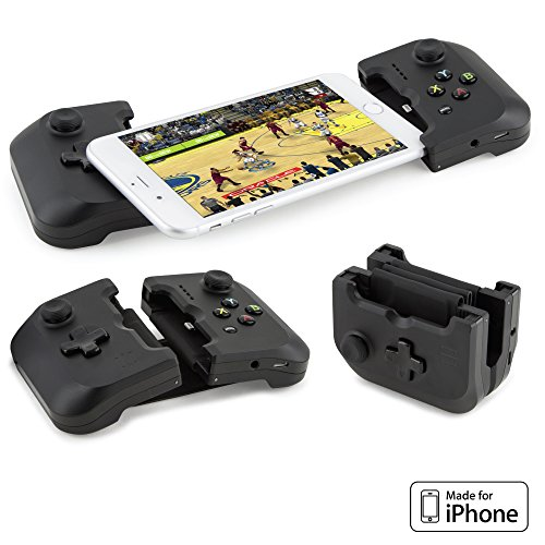 Gamepad - Apple iPhone Game Controller (Apple MFi Certified) for iPhone X Gaming Controller, iPhone X, 8 Plus, iPhone 7 Plus, 8, 7, 6, 6s [DJI Spark Drone Flight Control] (NEW) ()