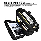 zrse Tactical Field Briefcase Multifunction Mens Military Laptop Handbags Outdoor Nylon Shoulder Messenger Black