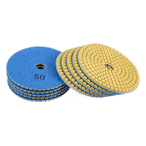uxcell Diamond Polishing Sanding Grinding Pads Discs 4 Inch Grit 50 10 Pcs for Granite Concrete Stone Marble