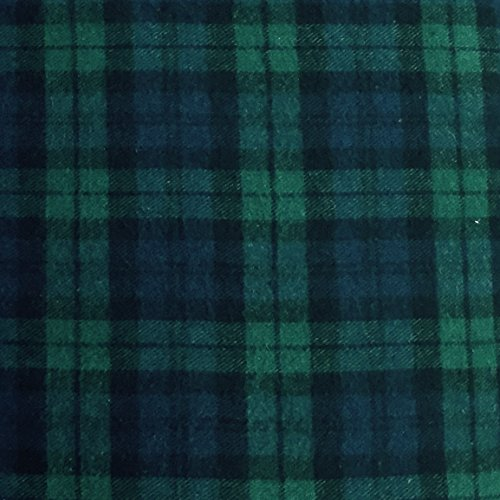5 Yard Bolt Black Watch Plaid Flannel Cotton - Sewing Flannel Fabric