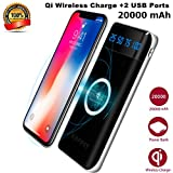IPhone X Wireless Charger Power Bank,KUPPET 20000mAh External Battery Charging Pack Portable Charger Battery Pack Portable Charger for iPhone X,iPhone 8,Samsung Galaxy S9/S8/S7 Note 8