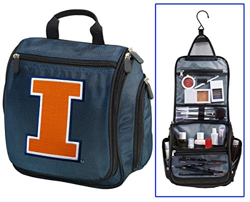 Illini Toiletry Bags Or Hanging University of Illinois Shaving Kits for ()