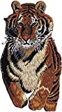 Novelty Iron on Patch - Animal Kingdom Running Tiger Cat Applique