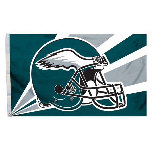 Fremont Die NFL Philadelphia Eagles 3-by-5 Foot Helmet Flag -
