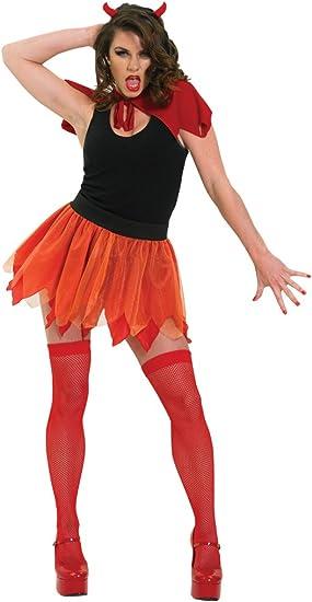 Disfraz de diablesa para mujer, diablo con falda, Talla única ...