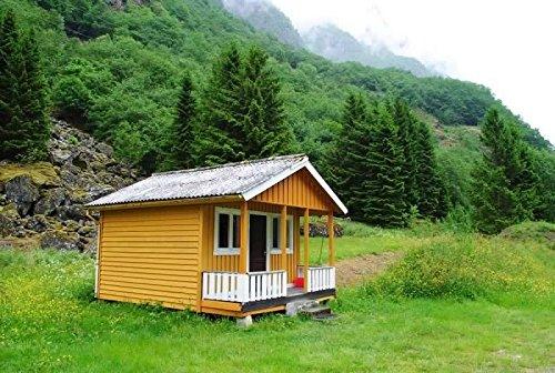Cabin Plans With Loft DIY Cottage Guest House Building Plan 384 sq/ft