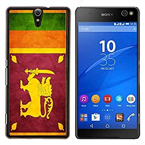 LECELL--Funda protectora / Cubierta / Piel For Sony Xperia C5 Ultra -- Nación Bandera Nacional País Sri Lanka --