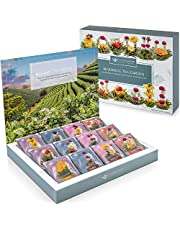 Teabloom Flowering Tea Chest - Curated Collection of 12 Varieties of Flowering Teas Packaged in Beautiful Gift-Ready Tea Box