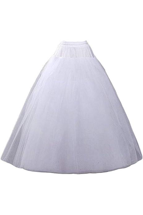 3-Hoop A-line White Wedding Ball Gown Crinoline Petticoat Underskirt Slips