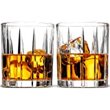 Double Old Fashioned Whiskey Glass Set - Set Of 2, 8 Oz. Weighted Drinking Glasses For Cocktail, Wine, Bourbon, Brandy, Liquor, Scotch Etc. With Magnetic Gift Box, High clarity Irish Whisky Glasses