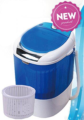 PANTRA Toploader Mini Waschmaschine mit Schleuder für 2,5 kg Wäsche / Camping