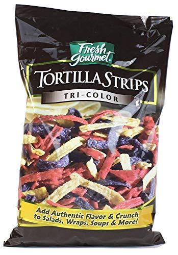 Fresh Gourmet Tortilla Strips, Tri-Color, 16 Ounce - Fresh Gourmet Tortilla Strips