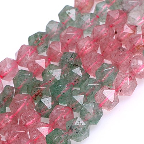 Cherry Quartz Beads for Jewelry Making Semi Precious Gemstone 6mm AAA Grade Faceted Multicolored Strand 15