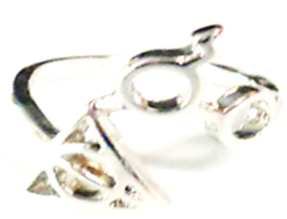 Silver Tone Harry Potter Deathly Hallows/Glasses With Scar Design Ring Size 6 by Saporas Designs
