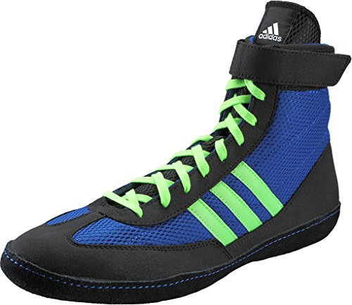adidas Combat Speed IV Boxing Shoes - Blue/Lime - 12