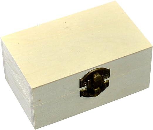 Szaerfa Pequeña Caja de Joyería de Madera Cofre del Tesoro Caja de Regalo Caja de Regalo Caja de Almacenamiento de Arte de Los Niños Artesanía Caja del Tesoro Sin Pintar: Amazon.es: Juguetes